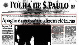 Apagão é necessário, dizem elétricas (16/maio/2001)