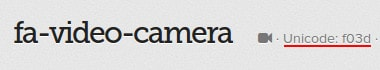 ícone fa-video-camera