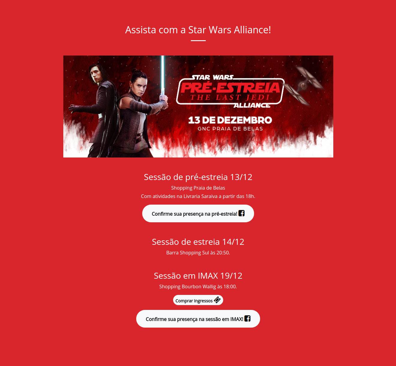 Assista com a Star Wars Alliance!
