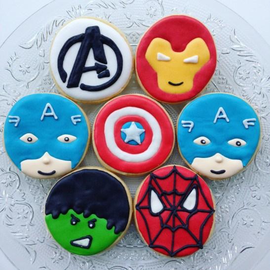 Super Hero Cookies, Tatie Cookie, biscuits décorés, sablés personnalisés, Paris
