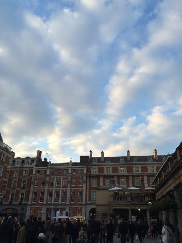 Blue sky over Covent Garden
