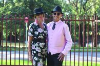 Gabi Byrom and Viv Harris love entering best dressed couple competitions in local fashions on the field competitions.