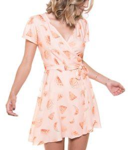 vestido envelope rosa