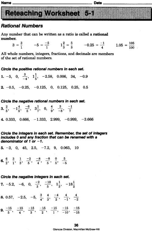 small resolution of 27 Rational Numbers Worksheet Grade 7 - Free Worksheet Spreadsheet