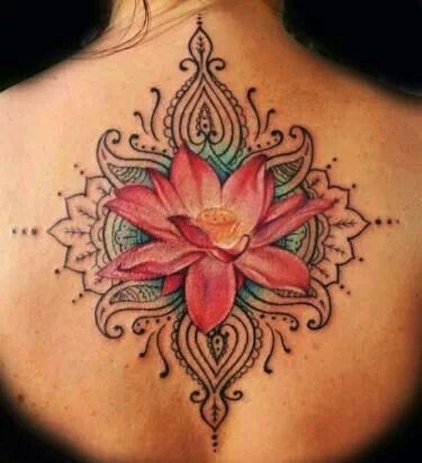 20 Contour Flower Tattoos Ideas And Designs