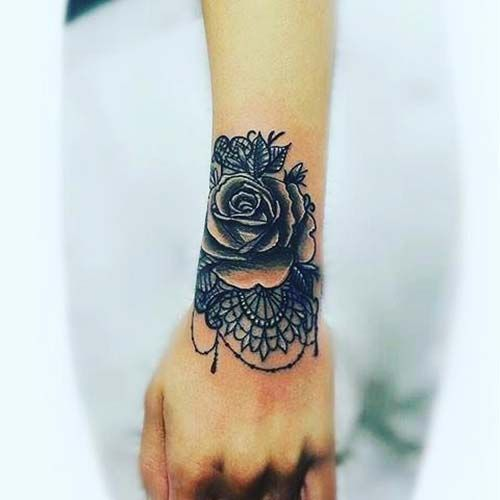 20 Lace Rose Wrist Tattoos Cover Ups Ideas And Designs