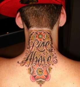 tatouage nuque insolite