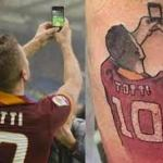 Le tatouage du selfie de Francesco Totti