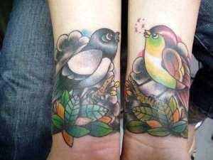 tatouage au poignet old school