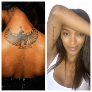 Les tatouages de Jourdan Dunn