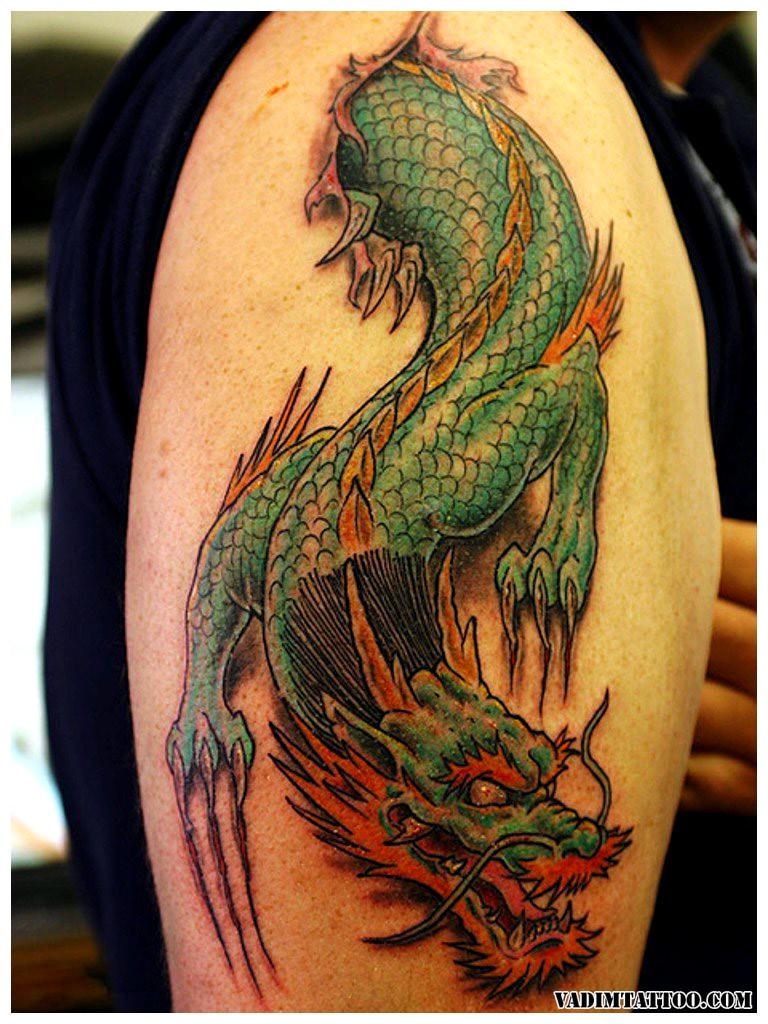 Dragon Tattoos Around The Arm