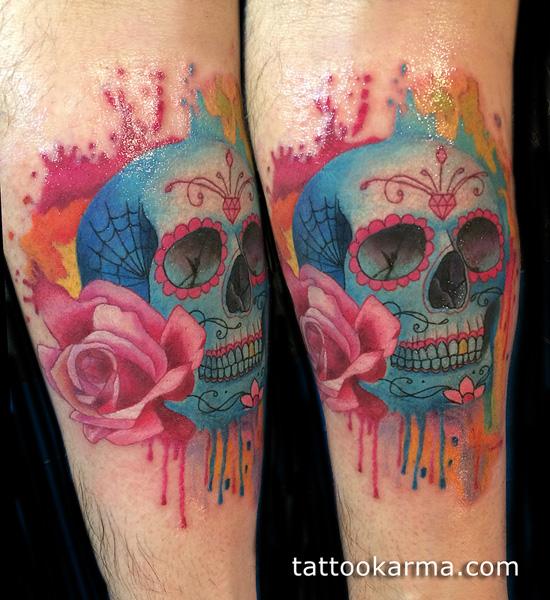 amazing skull tattoo design