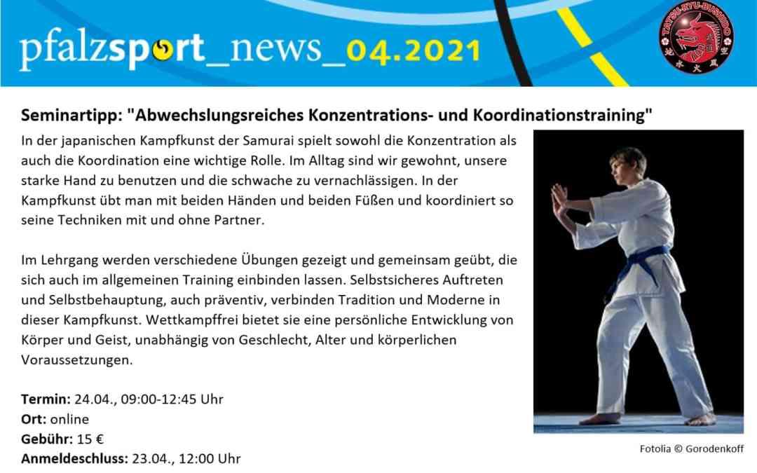 "Seminartipp: ""Konzentrations- und Koordinationstraining"""