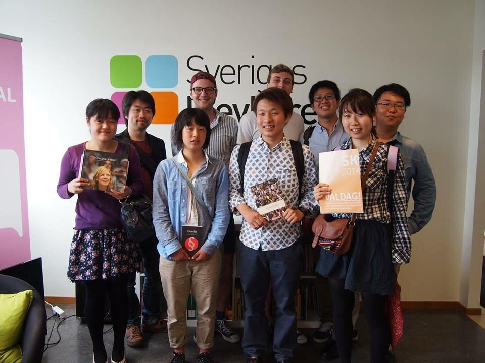 YECと訪問した時のスウェーデン学生自治会