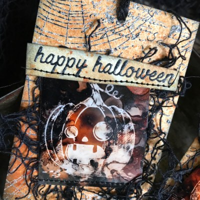 A Mini Tutorial: Halloween Lift Ink Treat Bag Tags
