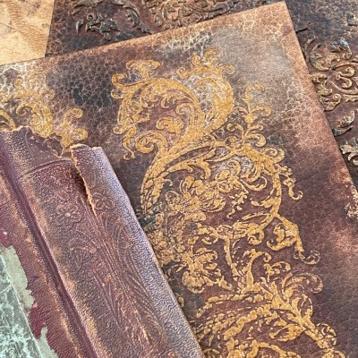 Vintage Embossed Leather Technique