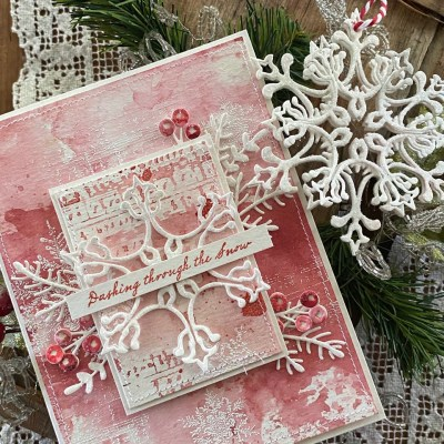 a stunning snowflake.. card and ornament