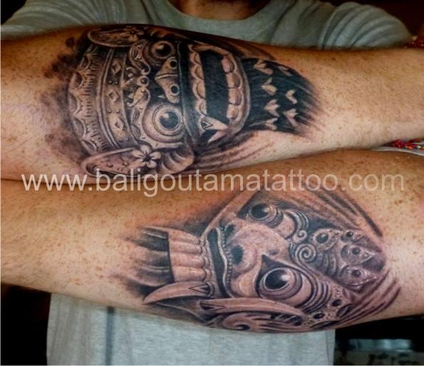 Rangda and Barong Mask Tattoos, UKTattoo