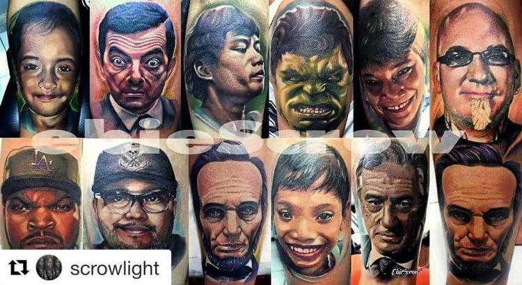 Celebrity Portraits by Bali Tattoo Artist Ebie Scrow
