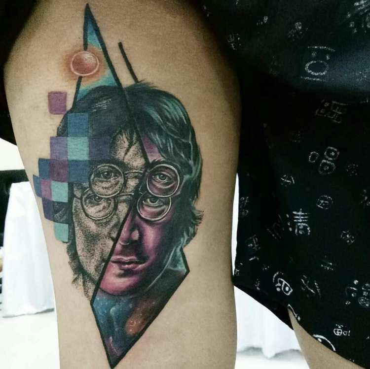 Alien John Lennon Tattoo by Endry Dharma 4th place color tattoo