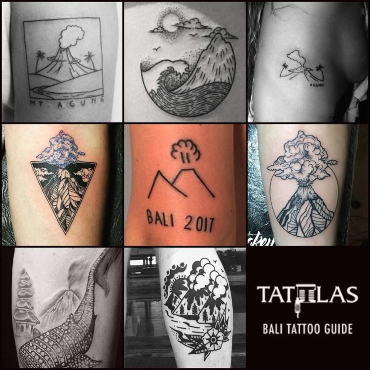 Bali Agung volcano tattoos