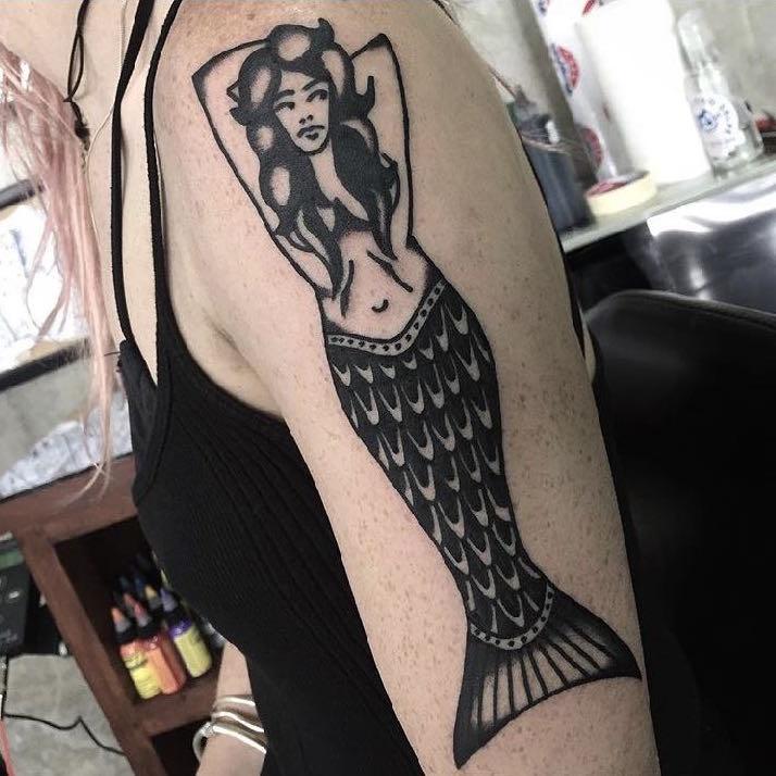 mermaid tattoo by July at Bold and Bright Canggu