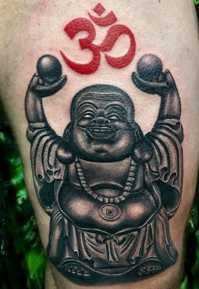 Buddha and Om by Temple of Ink