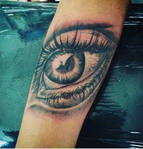 Freehand eye tattoo by Kuta Inked Tattoo