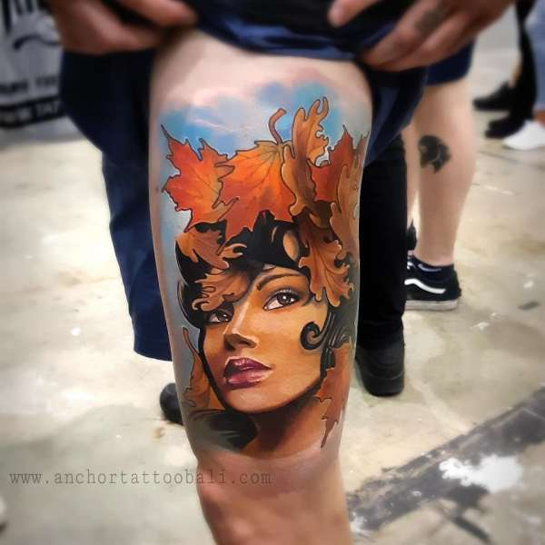 Perth Expo Best Neotraditional Tattoo by Dedy at Anchor Tattoo Bali