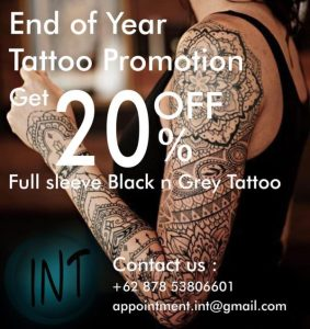 20% OFF Bali Tattoo Prices 2018