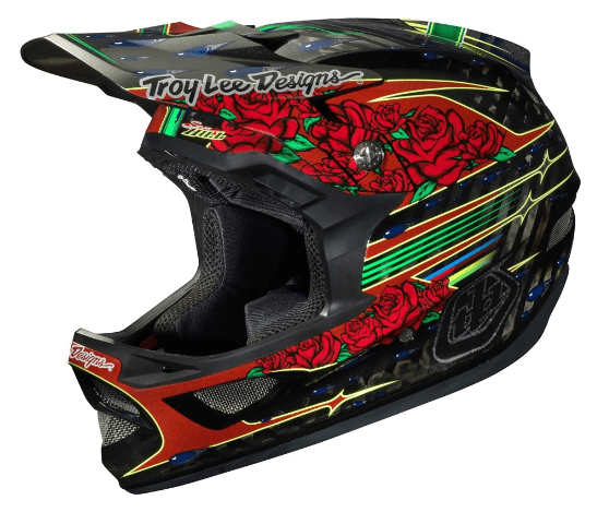 Sam Hill tattoo style bike helmet