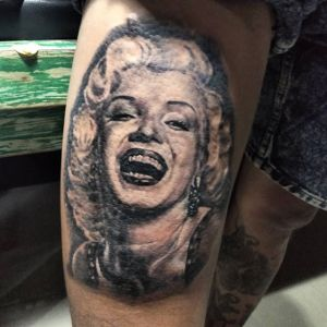 Marilyn Monroe tattoo by Jeff Woa Bali 2019