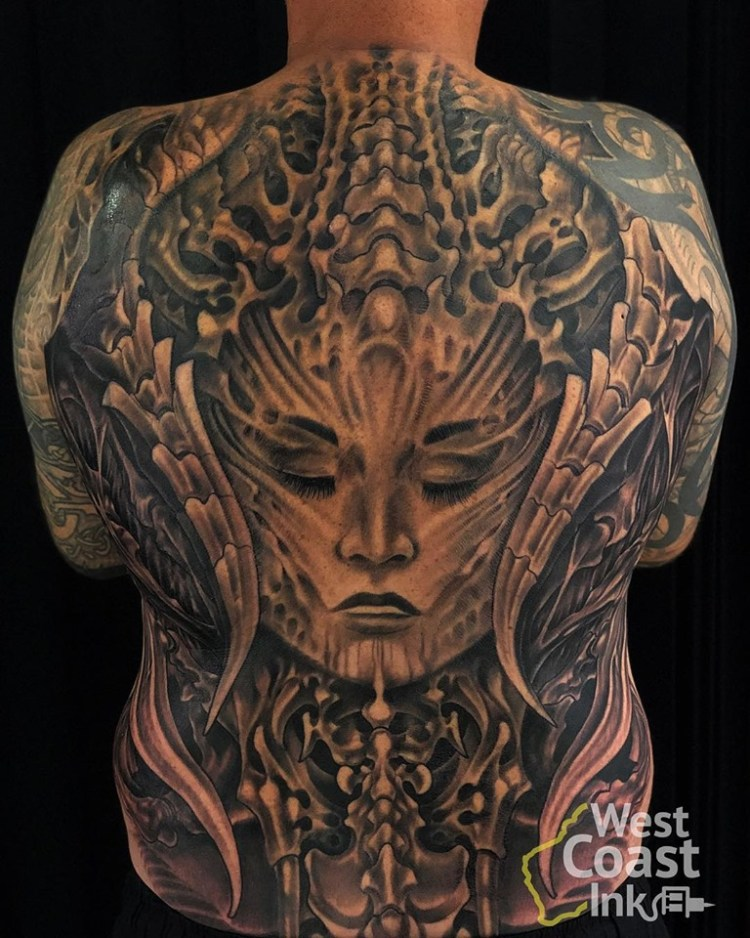 Backpiece on Rob by Kecil Ezr at Bali Tattoo Expo 2019
