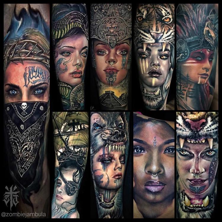 Portrait Tattoos by Zombie Jambula Luxury Ink Bali 2019