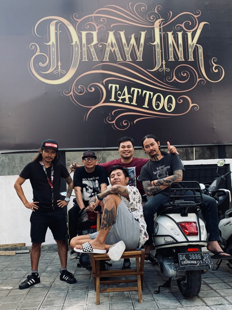 Tattoo Artists at Draw Ink Tattoo Bali