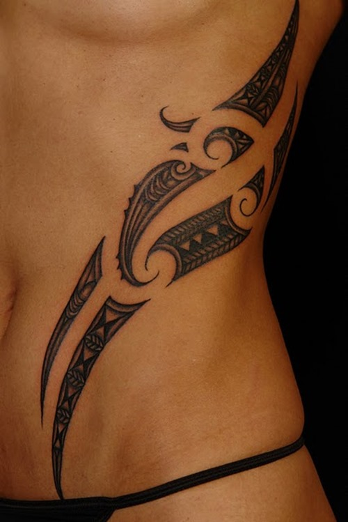 Famous Tribal Waist Tattoo Design In 2017 Real Photo