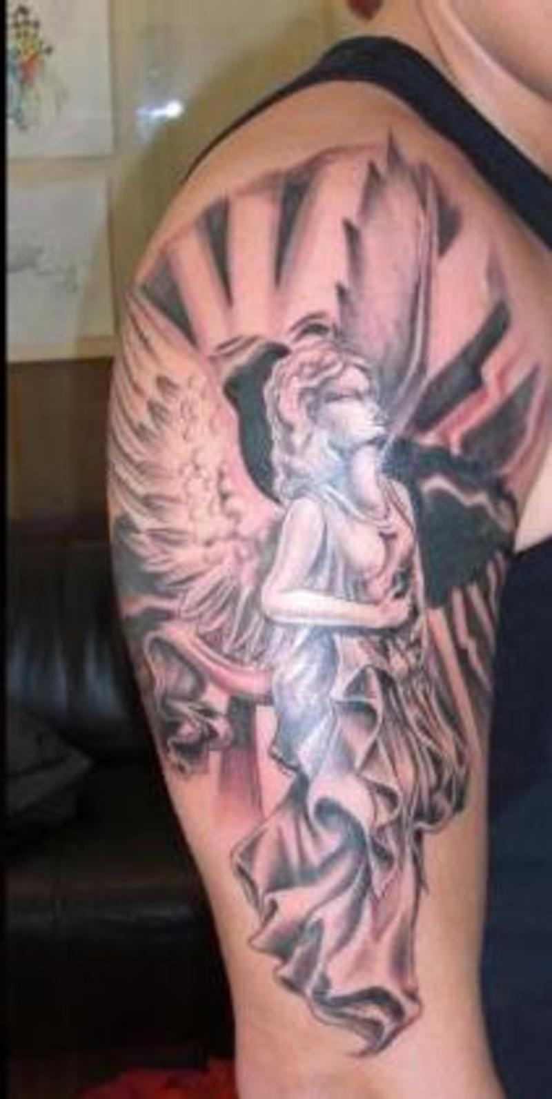 New Angel Wings Tattoo On Back Photo  14 2017 Real Photo