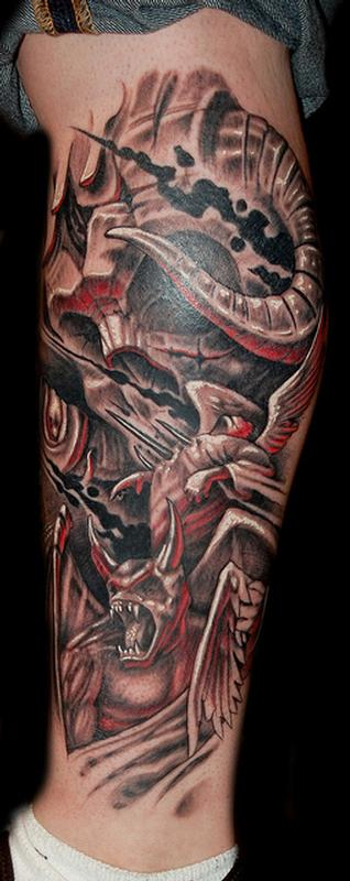 20 Sleeves Tattoos Of Demons 3d Ideas And Designs