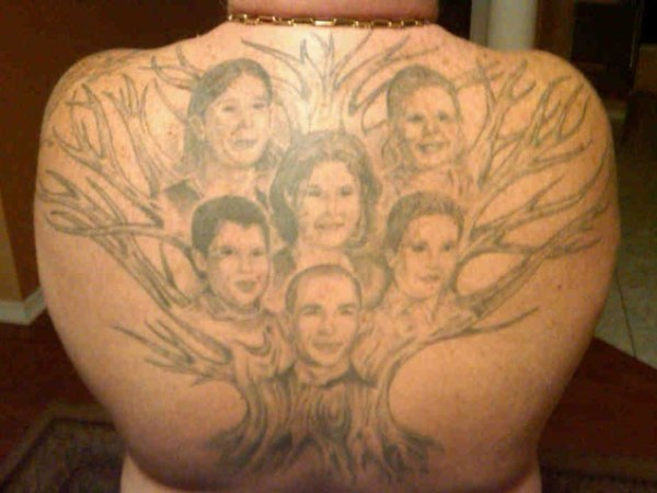 20 Family Portrait Tattoos Back Ideas And Designs