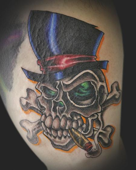 20 Skull Top Hat American Traditional Tattoos Ideas And Designs
