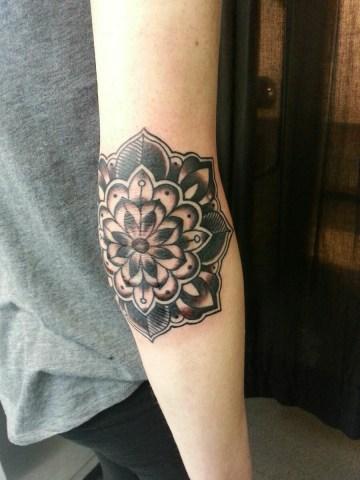 Cool elbow tattoo