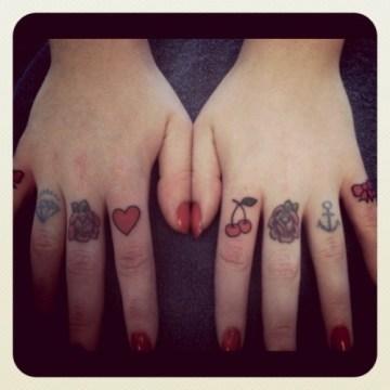 Cute finger tattoos