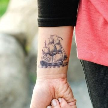 Wrist Ship Tattoo