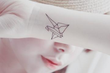 Origami Wrist Tattoo