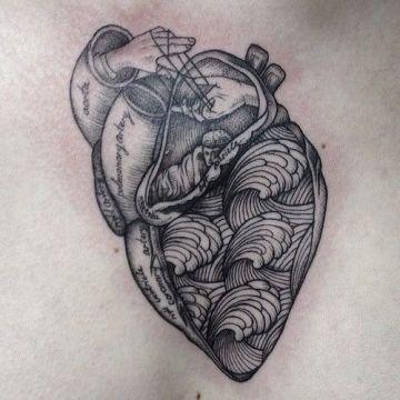 Beautiful Black Heart Tattoo