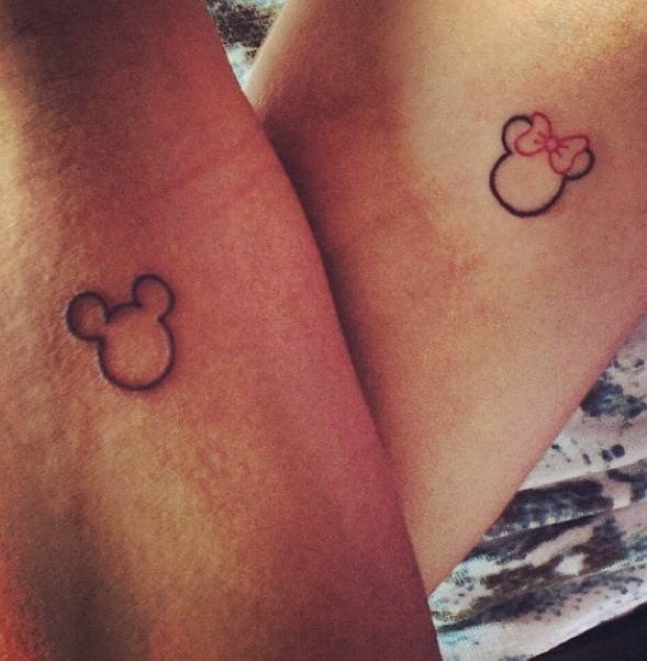 Minnie Mouse Tattoo Small
