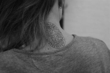 Tree Of Life Tattoo On Neck