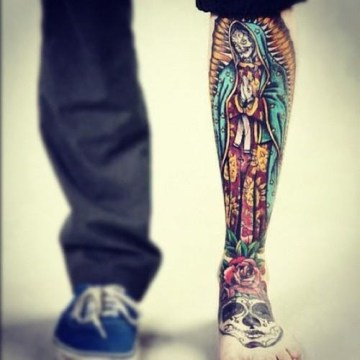Old School Mexican Style Tattoo