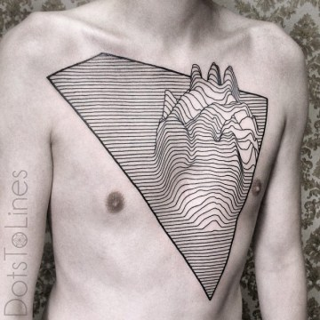 Line Heart Tattoo