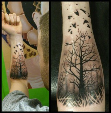 Tree & Ravens